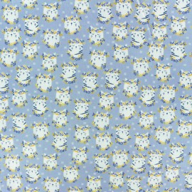 Dear Stella Poplin fabric - white Feline Groovy  x 10cm