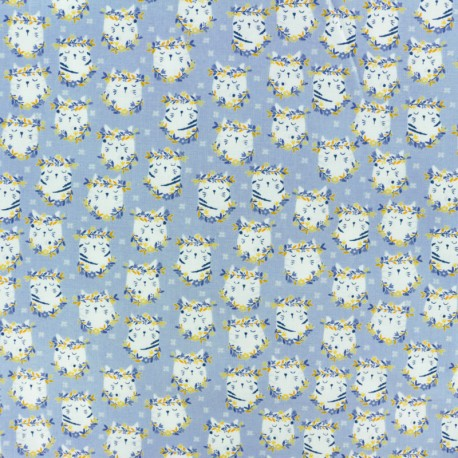 Tissu Popeline Dear Stella Pawsome - Blanc x 10cm