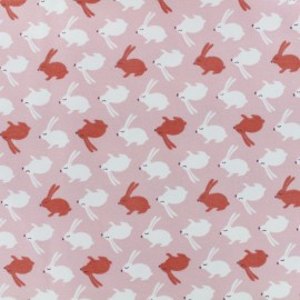 Jersey cotton fabric - light pink Balapin x 10cm