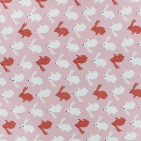Tissu jersey Balapin - rose x 10cm