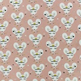 Jersey cotton fabric - light pink Balapin x 10cm