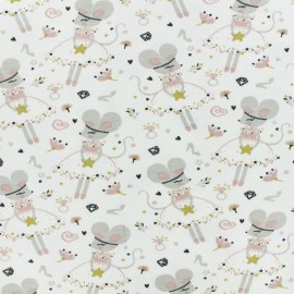 Jersey cotton fabric - light pink Corissou x 10cm