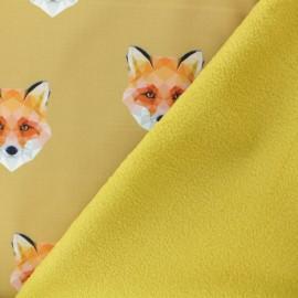 Tissu Softshell Origami Fox - jaune moutarde x 10cm