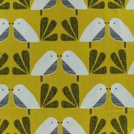 Tissu coton Dashwood Nesting Birds Oiseau - jaune x 10cm