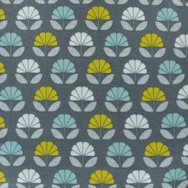 Tissu coton Dashwood Nesting Birds Fleur - gris x 10cm