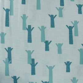 Cotton Dashwood fabric Nesting Birds - light grey tree- 10cm