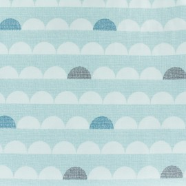 Cotton Dashwood fabric Nesting Birds - Ice blue - 10cm