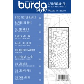 Grid tissue paper, Burda - white