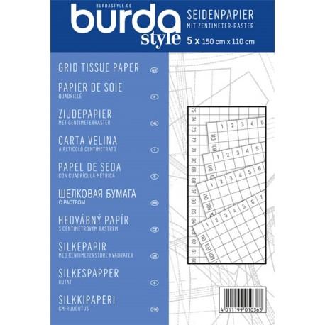 Grid tissue paper, Burda - white