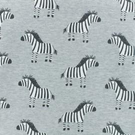 ♥ Coupon 70 cm X 150 cm ♥ Tissu sweat léger Zeby - gris