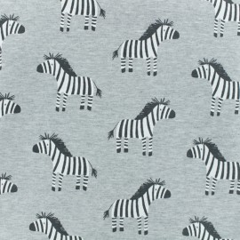 French Terry fabric - Grey Zeby x 10cm