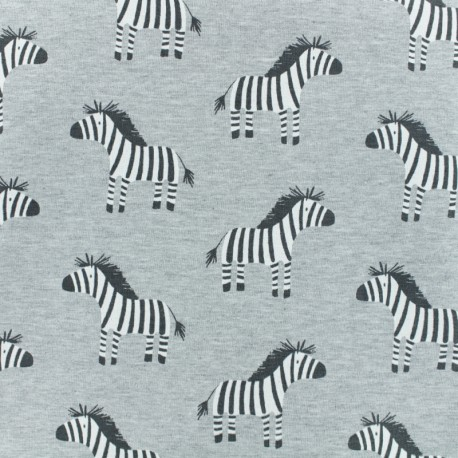 French Terry fabric - Grey Zeby x 10cm