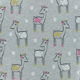 French Terry fabric - Grey Fanette x 10cm