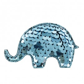 Elephant Sequins Sewing Patch - Frost Blue