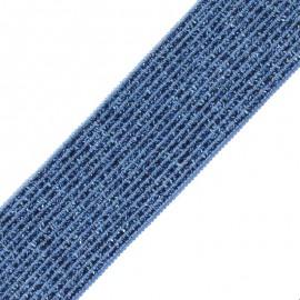 Ruban Élastique Lurex Elsa 35 mm - Bleu x 50cm