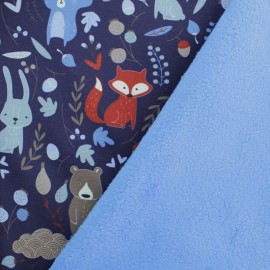 Softshell fabric - Navy blue Yili Valley x 10cm