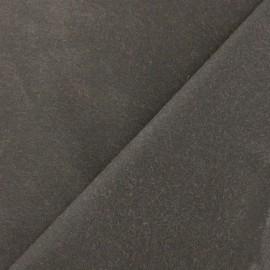 Tissu Coton huilé - Marron foncé x 10cm
