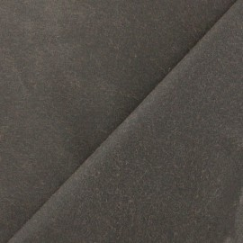 Waxed Cotton Fabric - Dark brown x 10cm