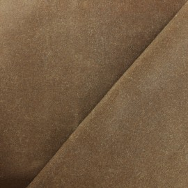 Waxed Cotton Fabric - Light brown x 10cm