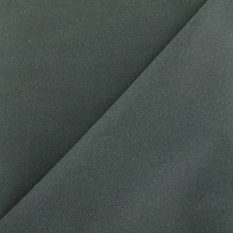 Waxed Cotton Fabric - Olive green x 10cm