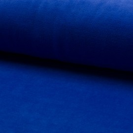 Terry-cloth jersey fabric - royal blue x 10cm