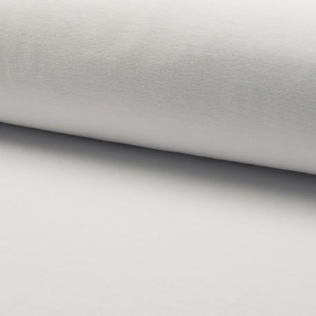 Tissu jersey velours éponge - Blanc optique x10cm