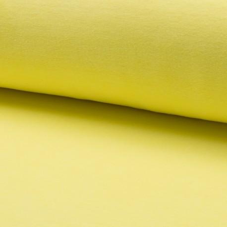 Tissu jersey velours éponge - jaune clair x10cm