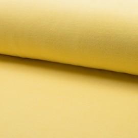 Tissu jersey velours éponge - jaune aurore x10cm