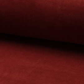 Terry-cloth jersey fabric - Brick x 10cm