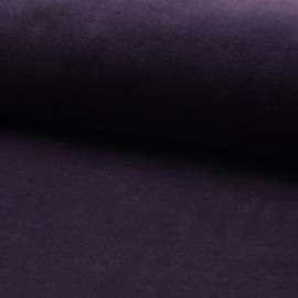 Terry-cloth jersey fabric - dark purple x 10cm