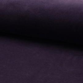 Tissu jersey velours éponge - violet foncé x10cm