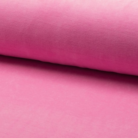 Terry-cloth jersey fabric - pink x 10cm