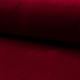 Terry-cloth jersey fabric - dark red x 10cm