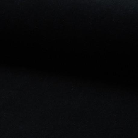Terry-cloth jersey fabric - black x 10cm