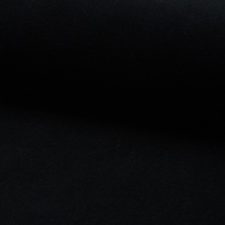 Tissu jersey velours éponge - noir x10cm