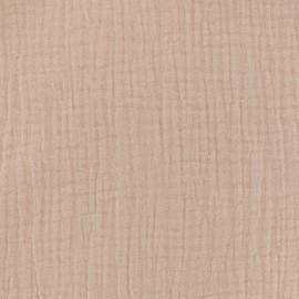 Double gauze fabric MPM - salmon pink x 10cm