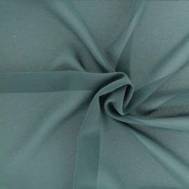 Light crepe fabric - Pine green x 10cm