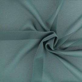 Tissu crêpe léger - vert sapin x 10cm
