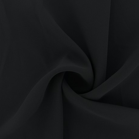 Crêpe Fabric - black Adela x 50cm
