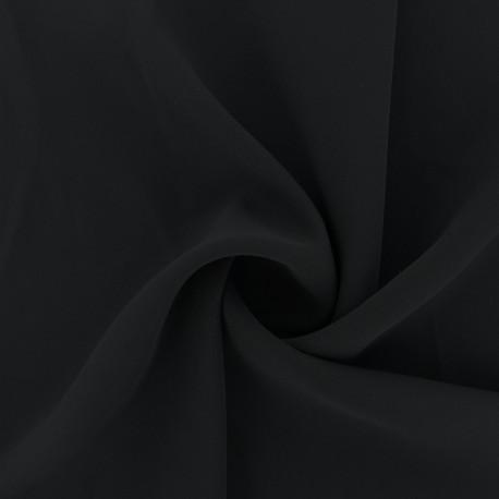 Tissu crêpe fluide Adela - noir x 50cm