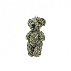 Teddy Bear Pompom - Black/Gold