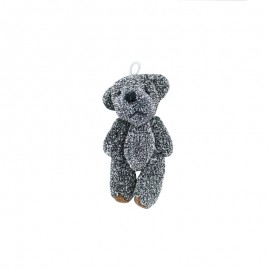 Teddy Bear Pompom - Black/Silver