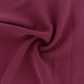 Tissu crêpe fluide Adela - lie de vin x 50cm