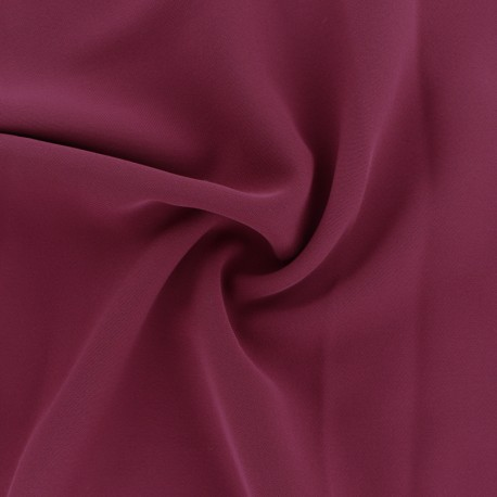 Crêpe Fabric - Burgundy Adela x 50cm