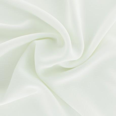 Crêpe Fabric - white Adela x 50cm