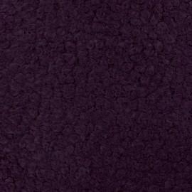 Tissu fourrure Astrakan Artik - Prune x 10cm