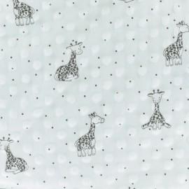 Minkee velvet fabric dot - raw Little Giraffe x 10cm