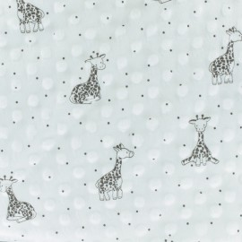Tissu Velours Minkee doux relief à pois Little Giraffe - écru x 10cm