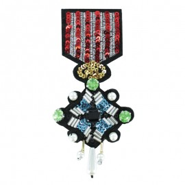 Sew-on Beads Medal - The Honorable