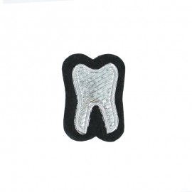 Sew-on Tooth Patch - Silver